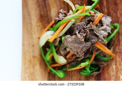 Chinese food, beef and vegetable stir fried