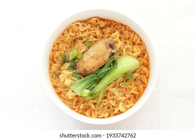 Chinese food, chicken wings and ramen noodles