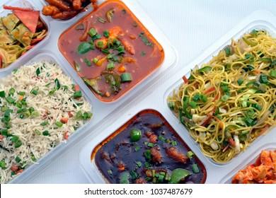Chinese Food Combo, take away, manchurian, chowmin, noodles, hakka, springrolls