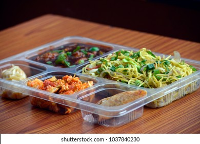 chinese food combo, takeaway packing box