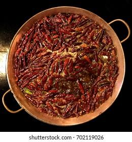 Chinese food hot pot chili Chengdu Sichuan  hua go