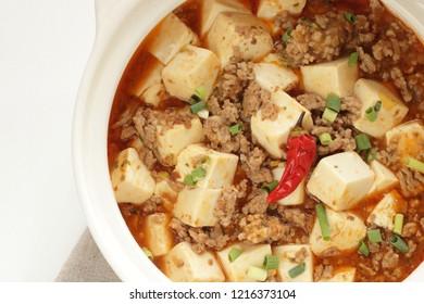 Chinese food, hot pot mapo tofu