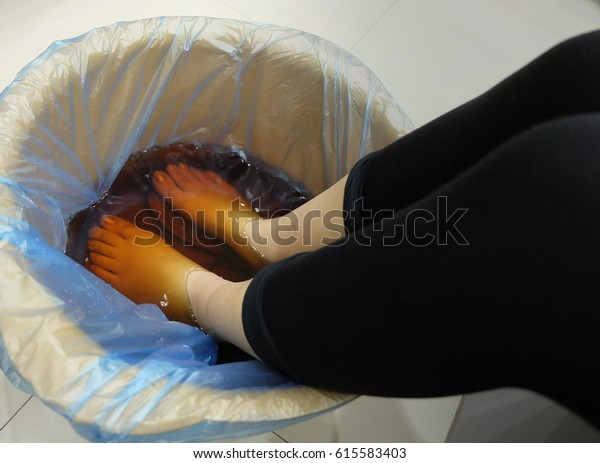 Chinese foot bath with black pant
