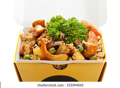 Chinese Fried Rice with Chicken, Vegetables and Pineapple