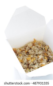 Chinese fried rice in watertight bento lunch box