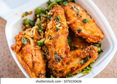 Chinese Fried Salt and Pepper Chicken Wings