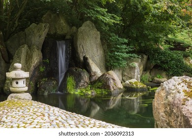 A chinese garden on a summer day