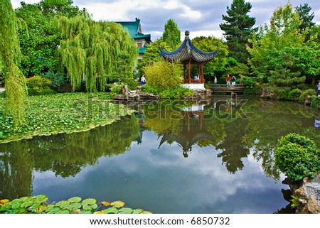 Chinese Garden In Vancouver, BC