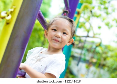 Chinese girl in the park