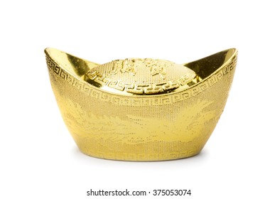 "chinese gold ingot or chinese gold nugget with the chinese text on the top mean ""get your money worth""."
