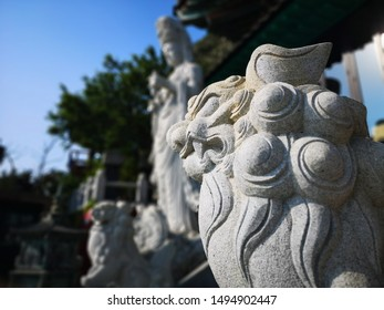 Chinese guardian lion statue or called Foo dogs