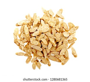 Chinese Herbal medicine - Astragalus slices, Huang Qi (Astragalus propinquus), on white background (manual focus)