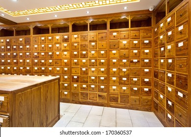 Chinese herbs store