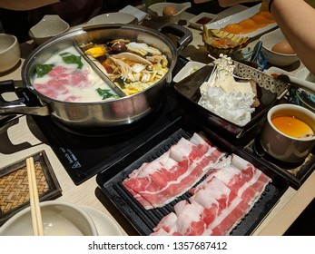 chinese hot pot dinner