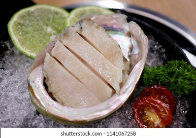 Chinese Hot Pot: Sliced Raw Abalone