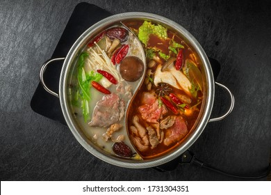 Chinese hotpot and exclusive pan
