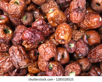 Chinese jujube. The red dry red date fruit which are  Dried Jujube, Dry Chinese date. Chinese date link or Jujube link. These are desserts and tradition chinese medicine for everone.