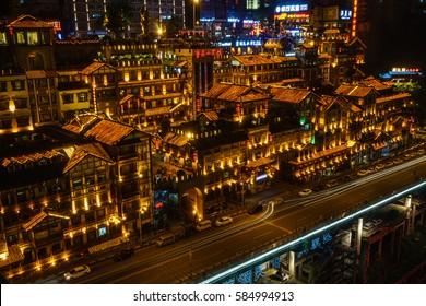 chinese landscape - nightscape - chongqing - china