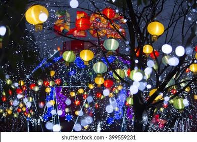 Chinese lantern at Lunar new year holiday,Shanghai