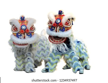 Chinese Lion dance during Chiness New Year Celebration.