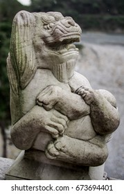 Chinese Lion Head statue