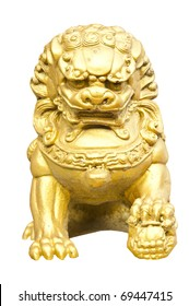 Chinese Lion on white background