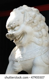 """Chinese Lion in Shadow"" Outside oriental store in Nob Hill part of Portland OR"