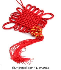 Chinese Lucky Knot Isolated on White.
