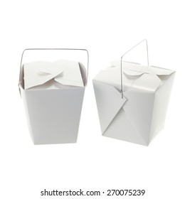 Chinese lunch box isolated on white background
