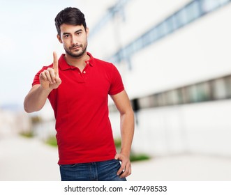 chinese man one gesture