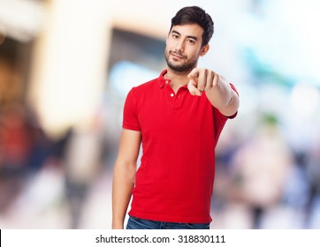 chinese man pointing to front