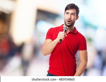 chinese man singing