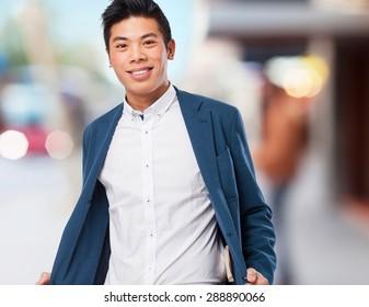 chinese man smiling
