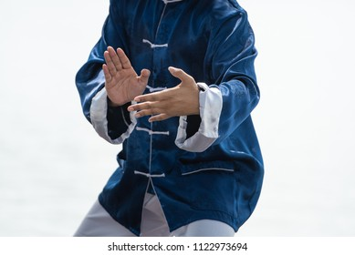 Chinese martial arts, man hands doing Tai Chi or Tai ji quan , Traditional Chinese martial arts.