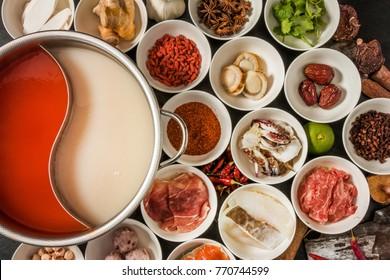 Chinese medicinal herb hotpot