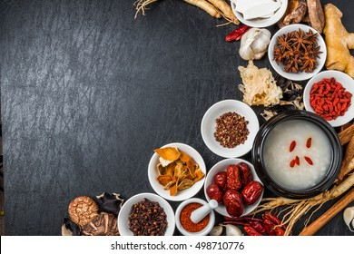 Chinese medicine dishes prepared with medicinal herbs