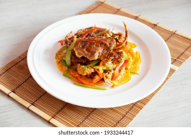 Chinese Menu - Stir-fried Soft Shell Crab with curry powder