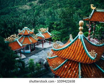 Chinese monastery on the mountain