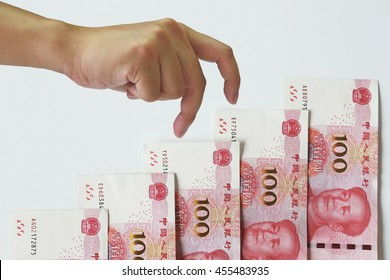 Chinese money stair up