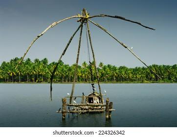 chinese nets in Kochi, Kerala, India