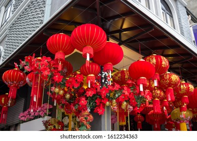 Chinese New Year and Christmas Decorations on Display in Kuala Lumpur