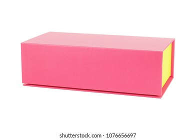Chinese New Year Red Gift Box on White Background