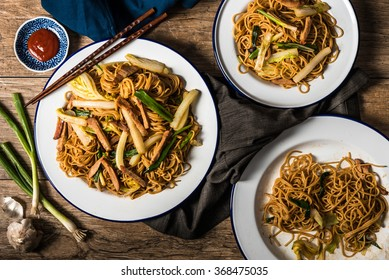 Chinese Noodles with Pork, Napa Cabbage, and Green Onion