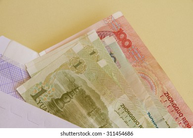 Chinese Notes in an Envelope