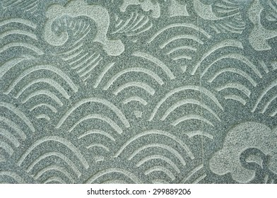 Chinese ocean Wave texture on the wall