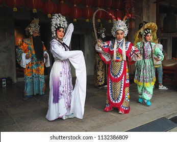 Chinese opera actor , Bangkok ,Thailand - 10 July 2018 : Chinese opera is a popular form of drama and musical theatre in China and Chinese communities.