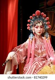 Chinese opera actress dummy