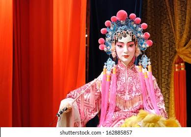 Chinese opera dummy actor / actress