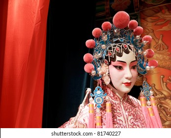 Chinese opera dummy actor / actress