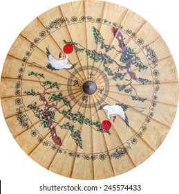 Chinese paint on paper umbrella